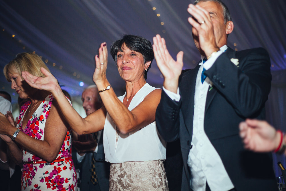 Clapping from the wedding guests- Lancashire wedding in Preston