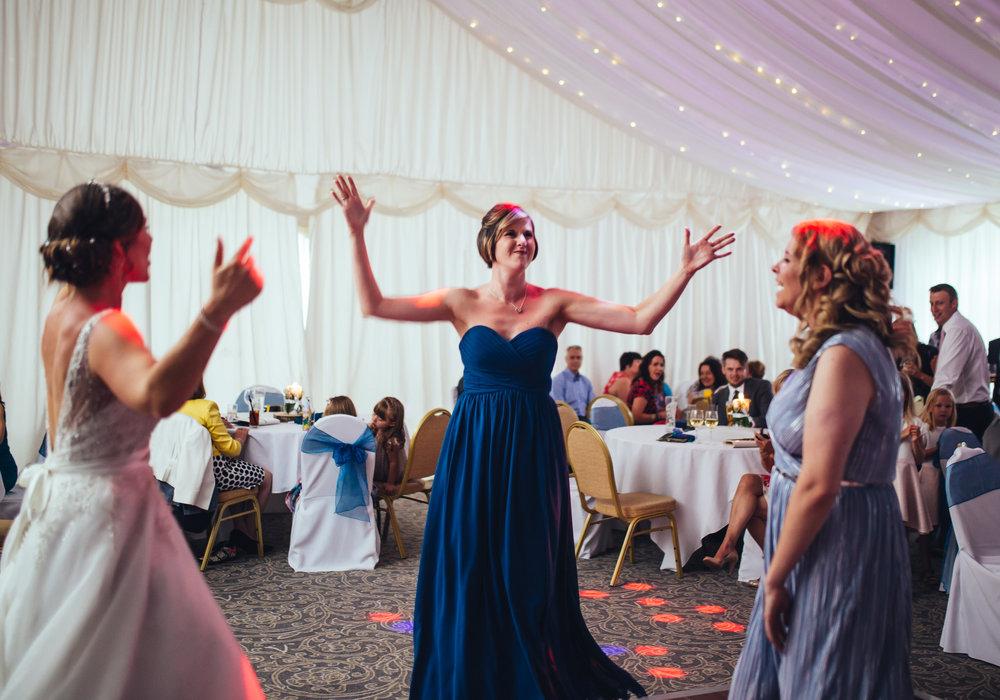 Wedding guests on the dance floor- Creative wedding photography
