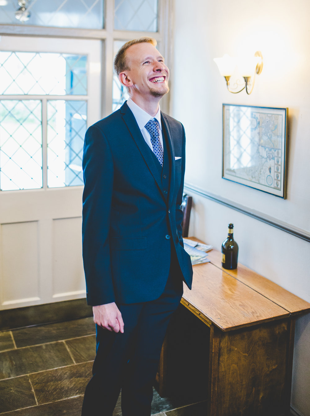 Portrait of the groom- ribble valley wedding