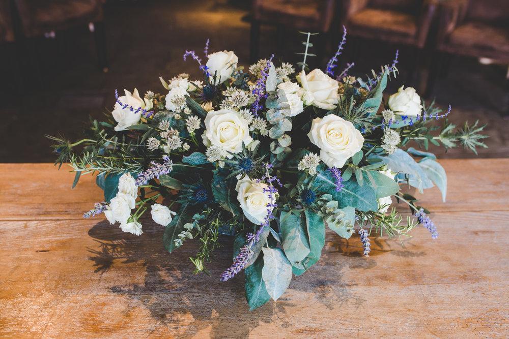The flower table arrangement- Lancashire wedding photography
