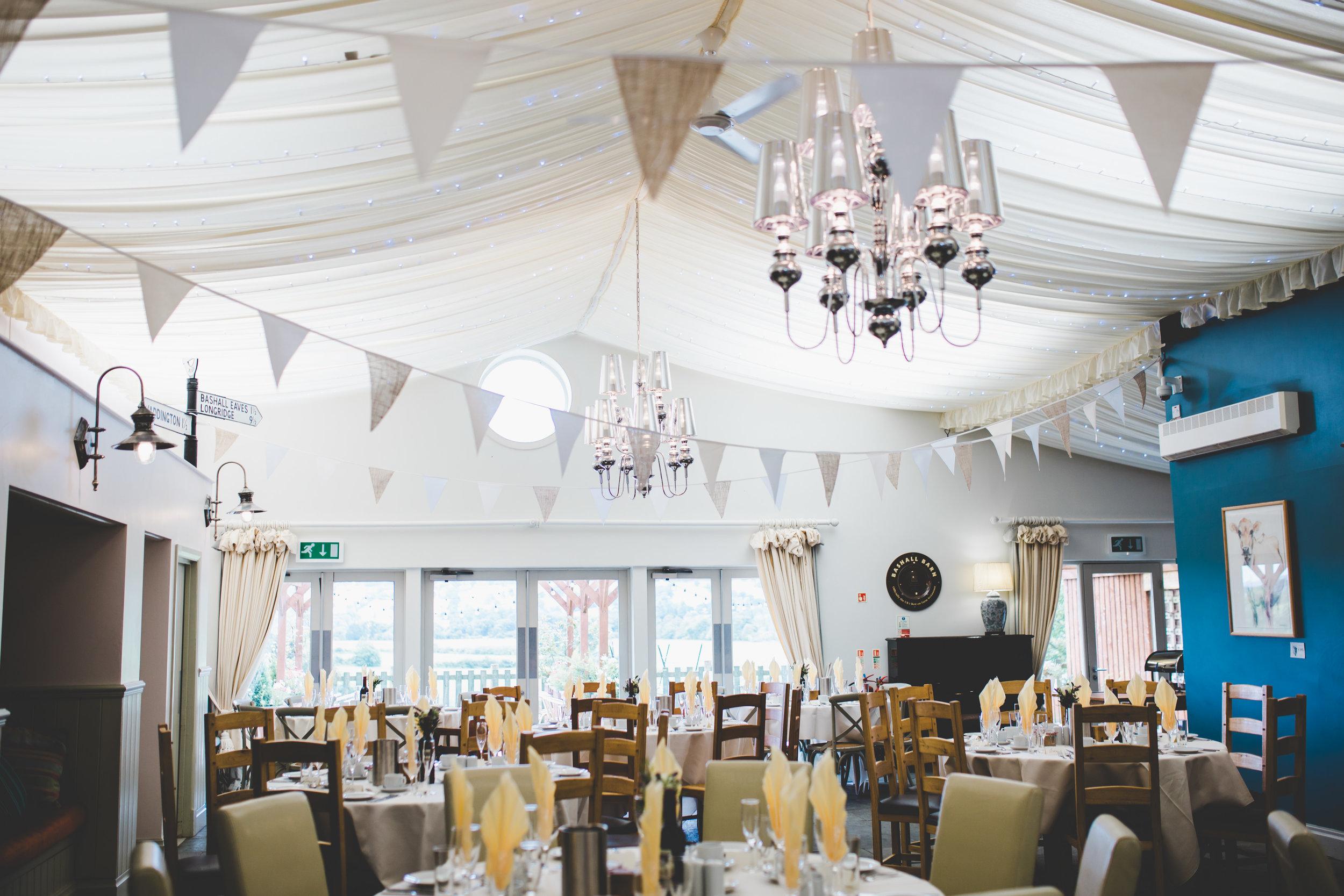 Bashall barn wedding decor - Lancashire wedding photographer