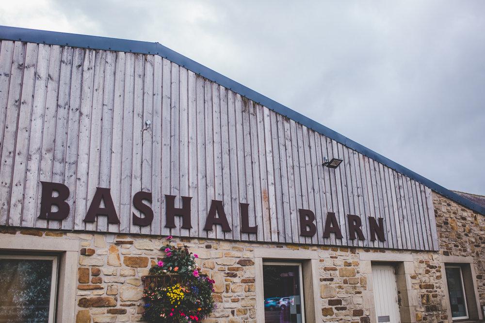 The exterior of Bashall barn wedding venue.