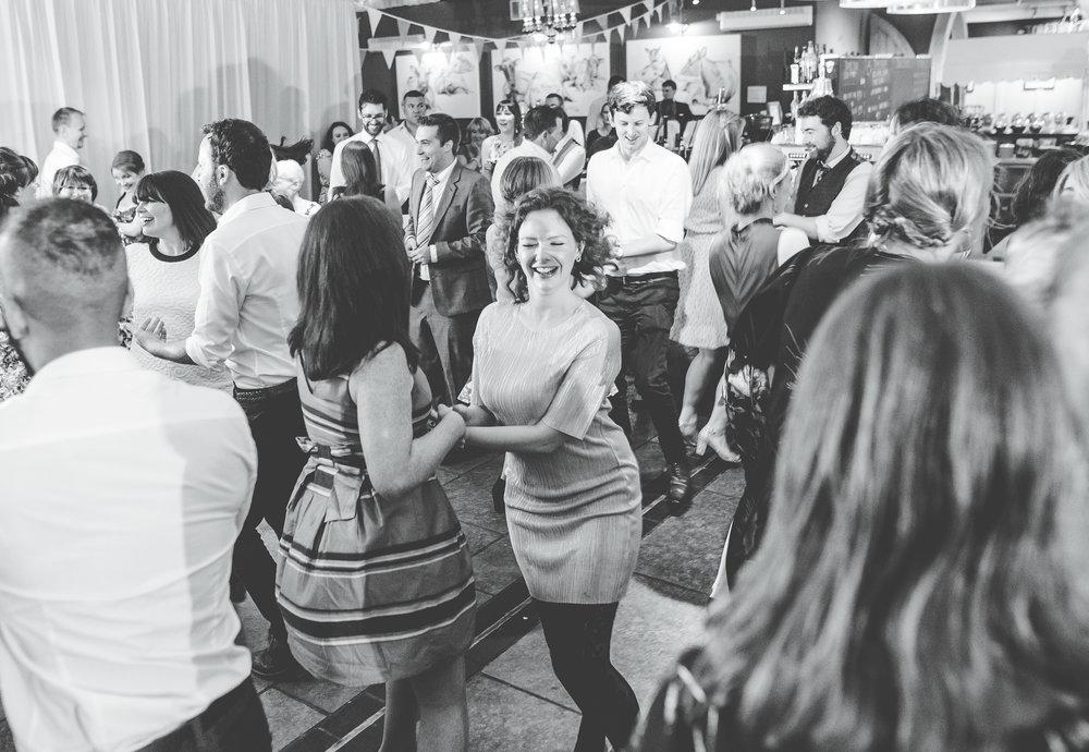 A full dance floor at Bashall barn, rubble valley