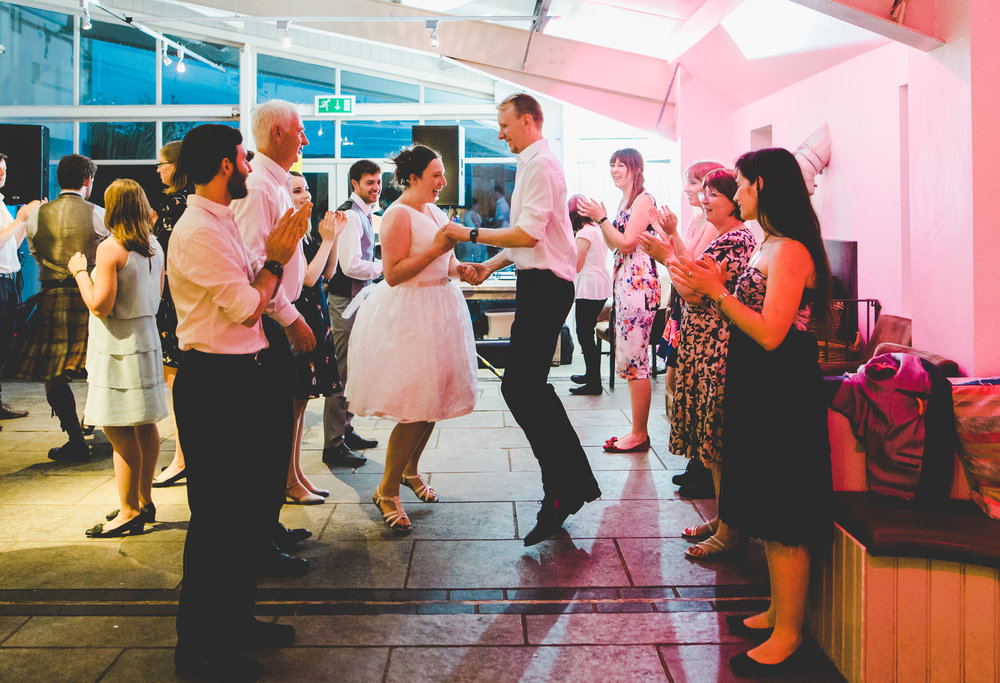 The bride and groom on the dance floor- Relaxed wedding in lancashire