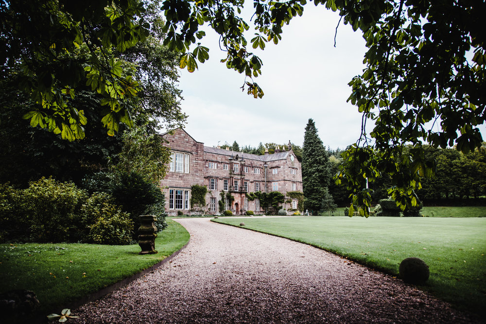 The exterior of Browsholme Hall