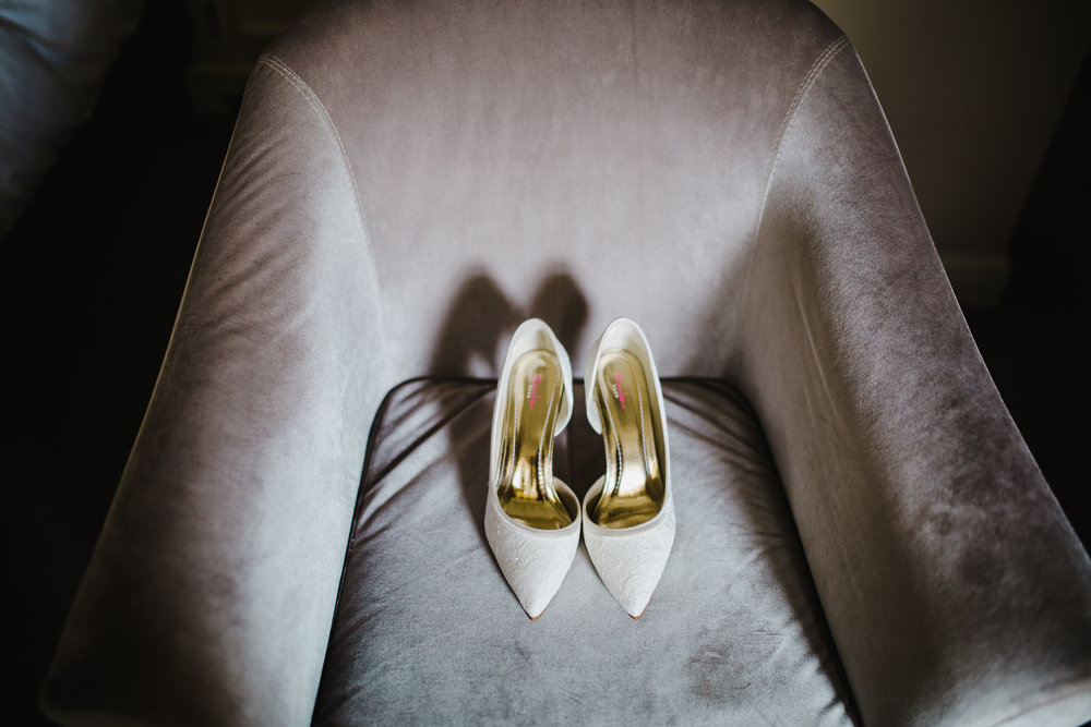 The wedding shoes of choice- Lancashire wedding photography