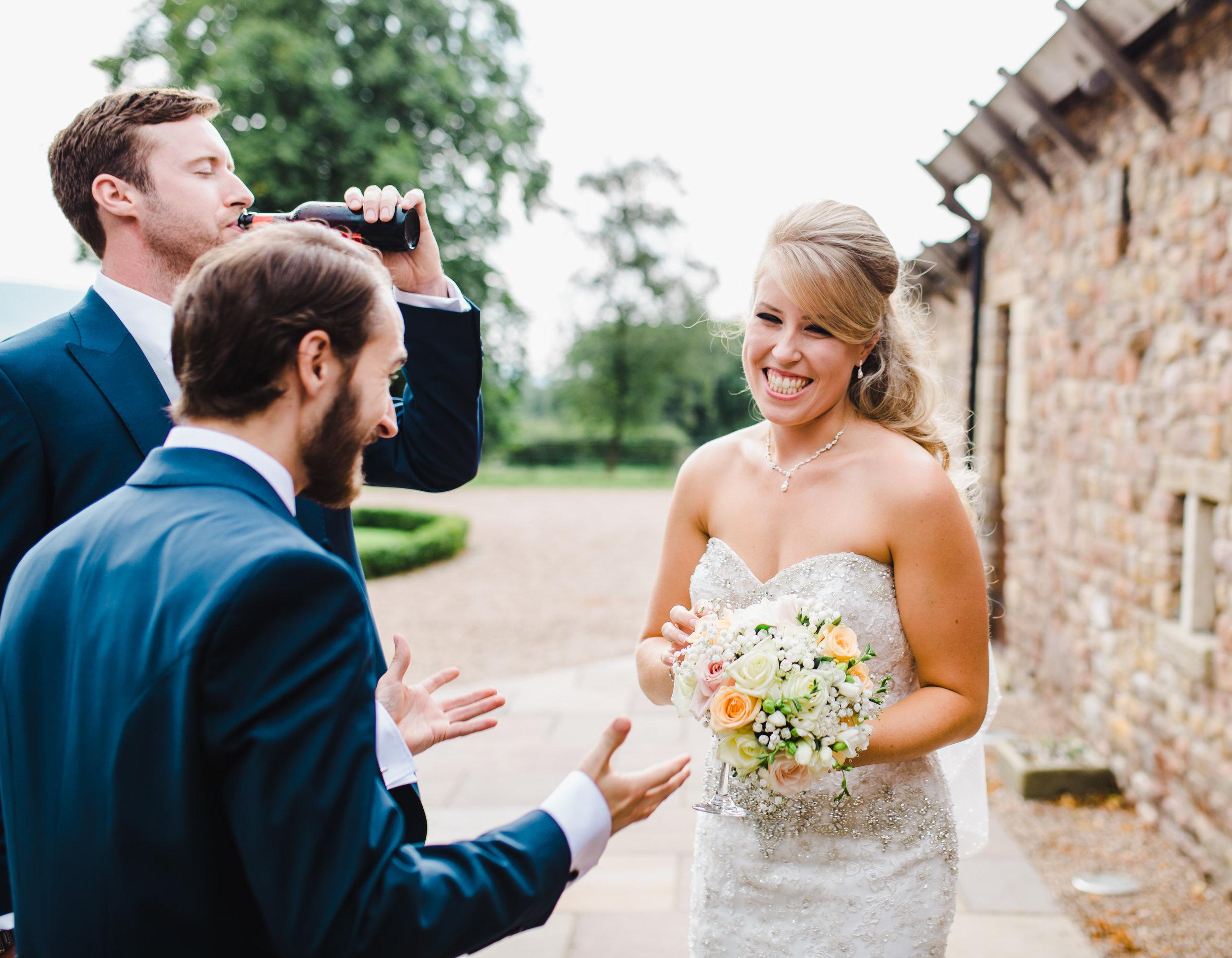 documentary wedding photography Lancashire - browsholme Hall wedding