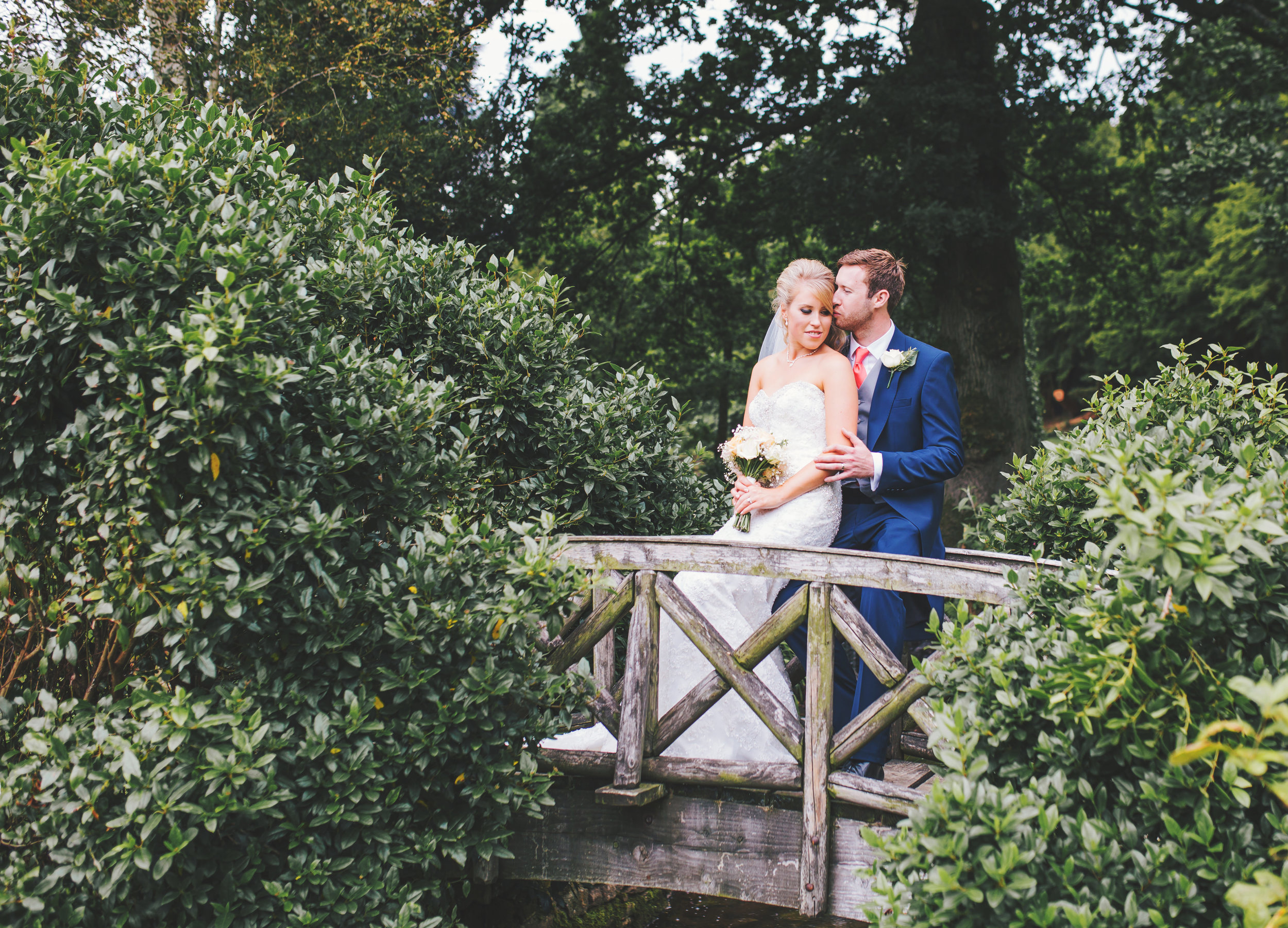 Bride and groom pictures at Browsholme Hall wedding