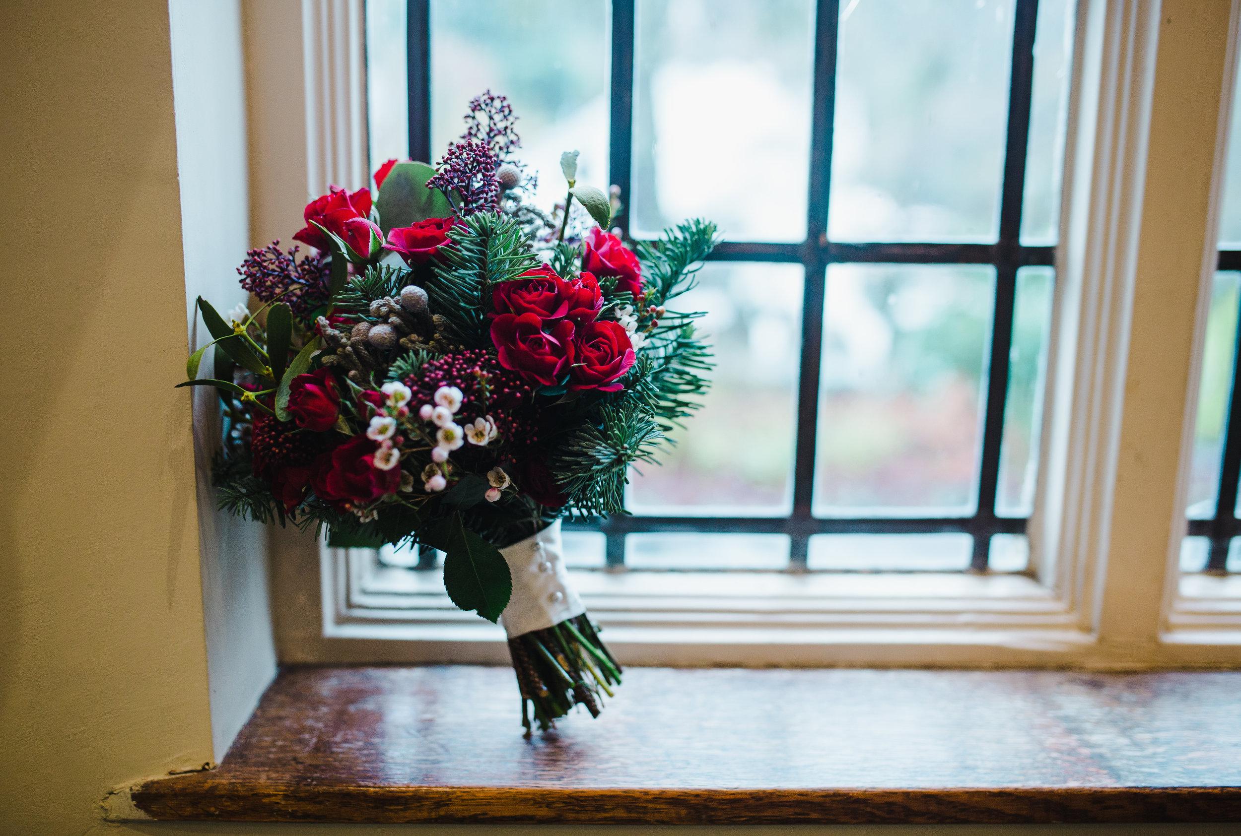 winter wedding - lake district flowers