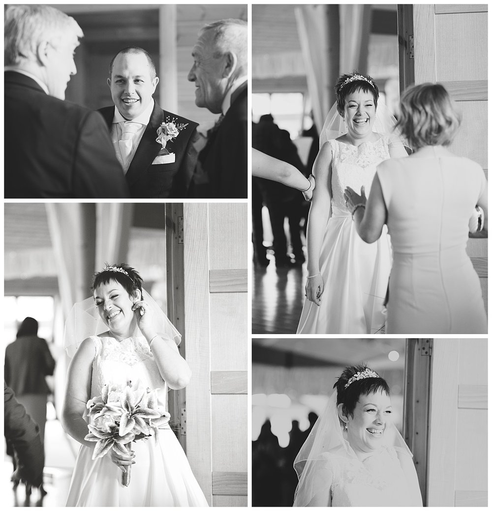 Collage of the bride and groom caught off guard- documentary photography, cheshire wedding
