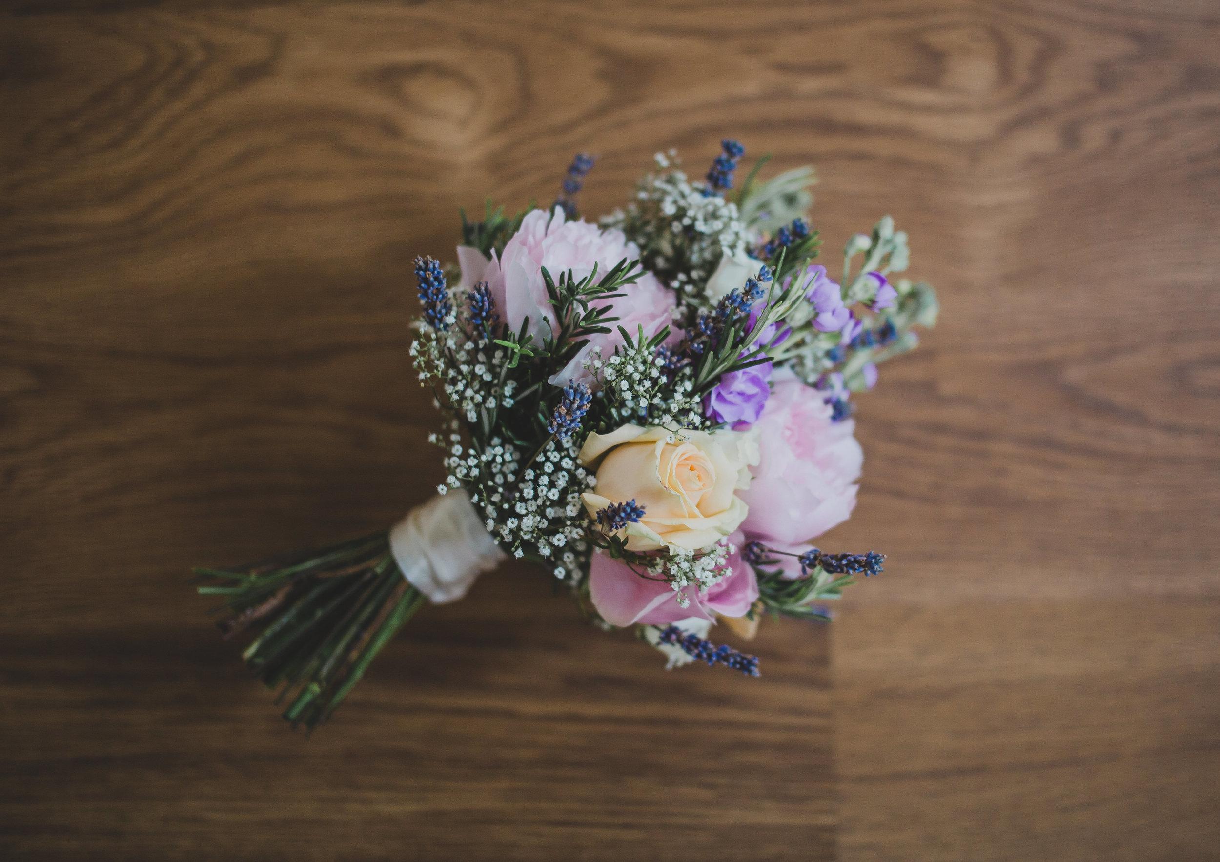 spring wedding bouquet - Lancashire wedding photographer