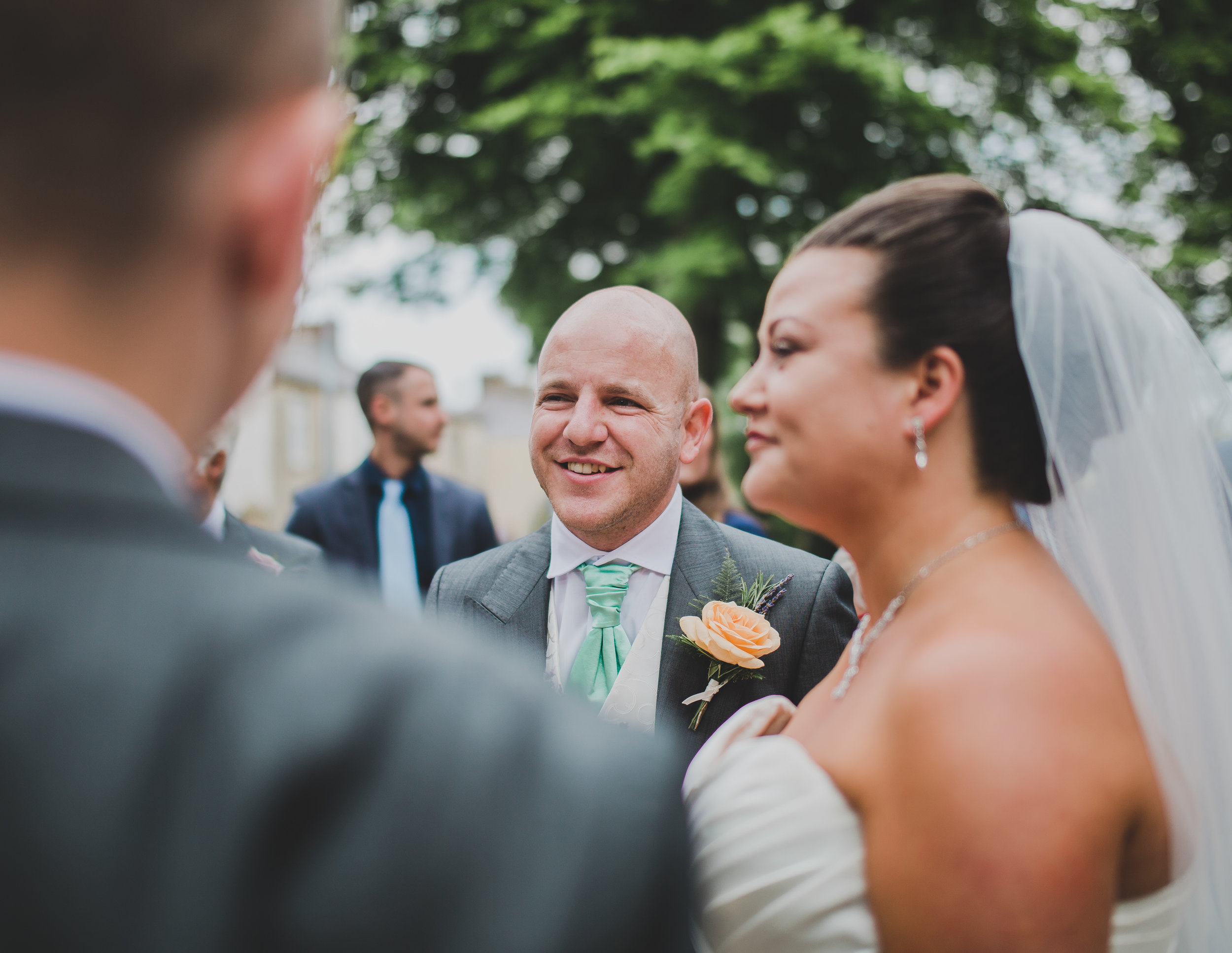 close up of groom -lancashire wedding