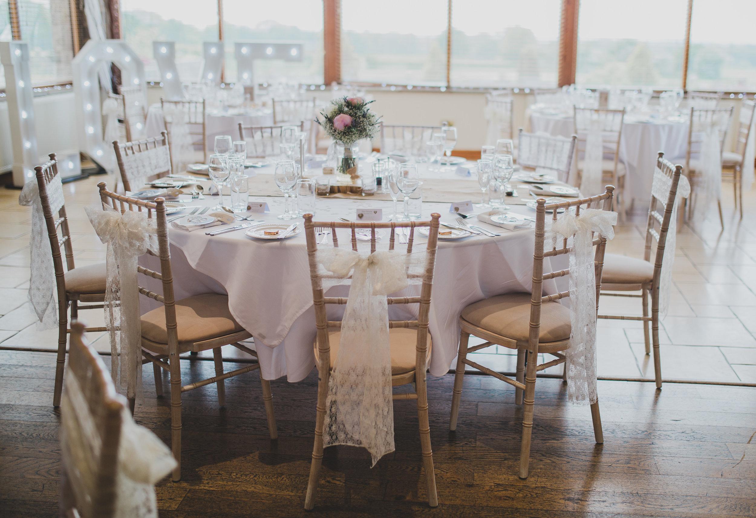 vintage inspired wedding decor in Lancashire
