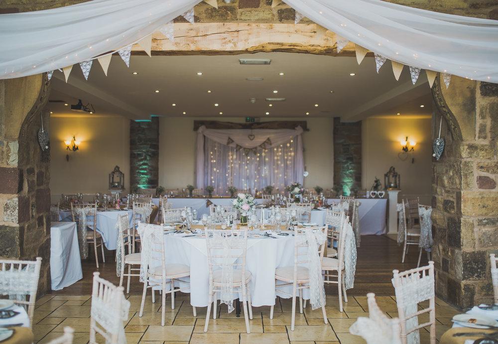 interior decoration wedding venue Beeston Manor