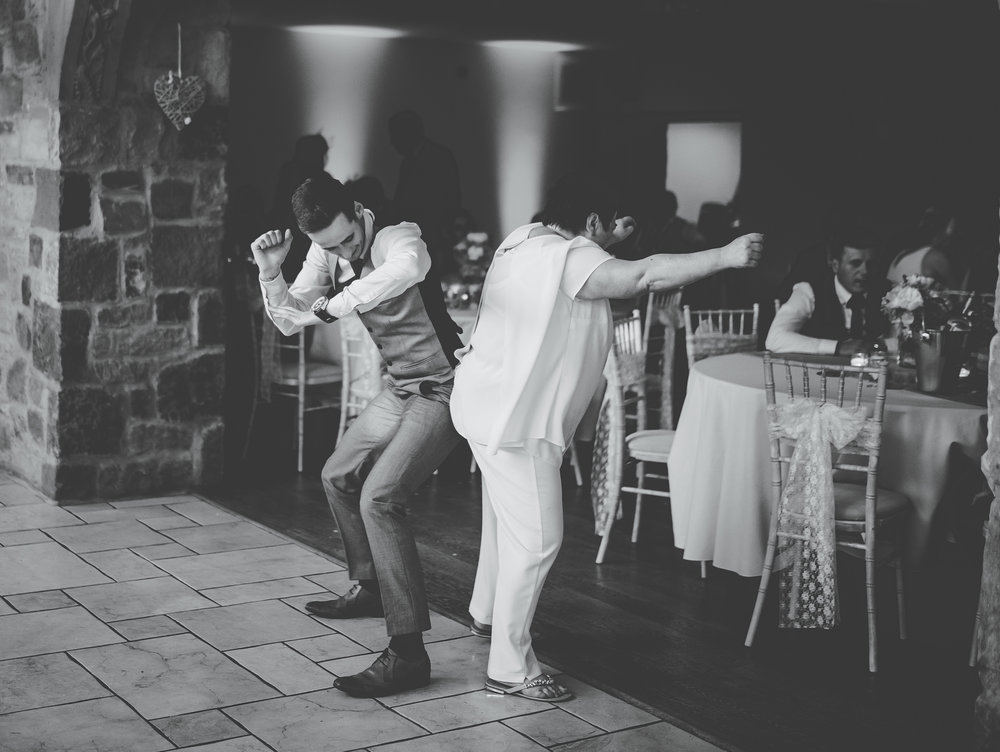 Some of the wedding guest hitting the dance floor at Beeston Manor