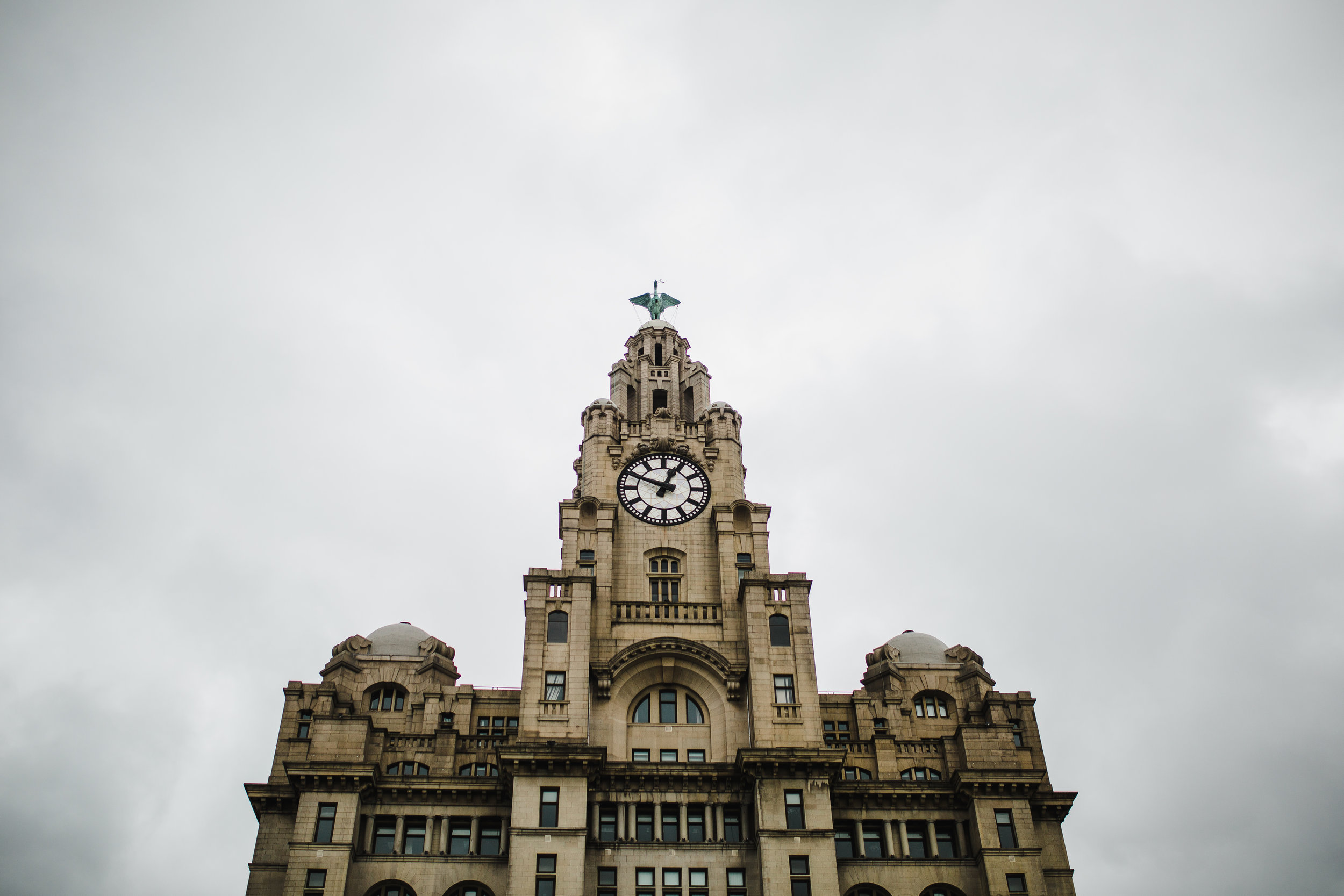 Exterior of the Liver building - Liverpool wedding photographer