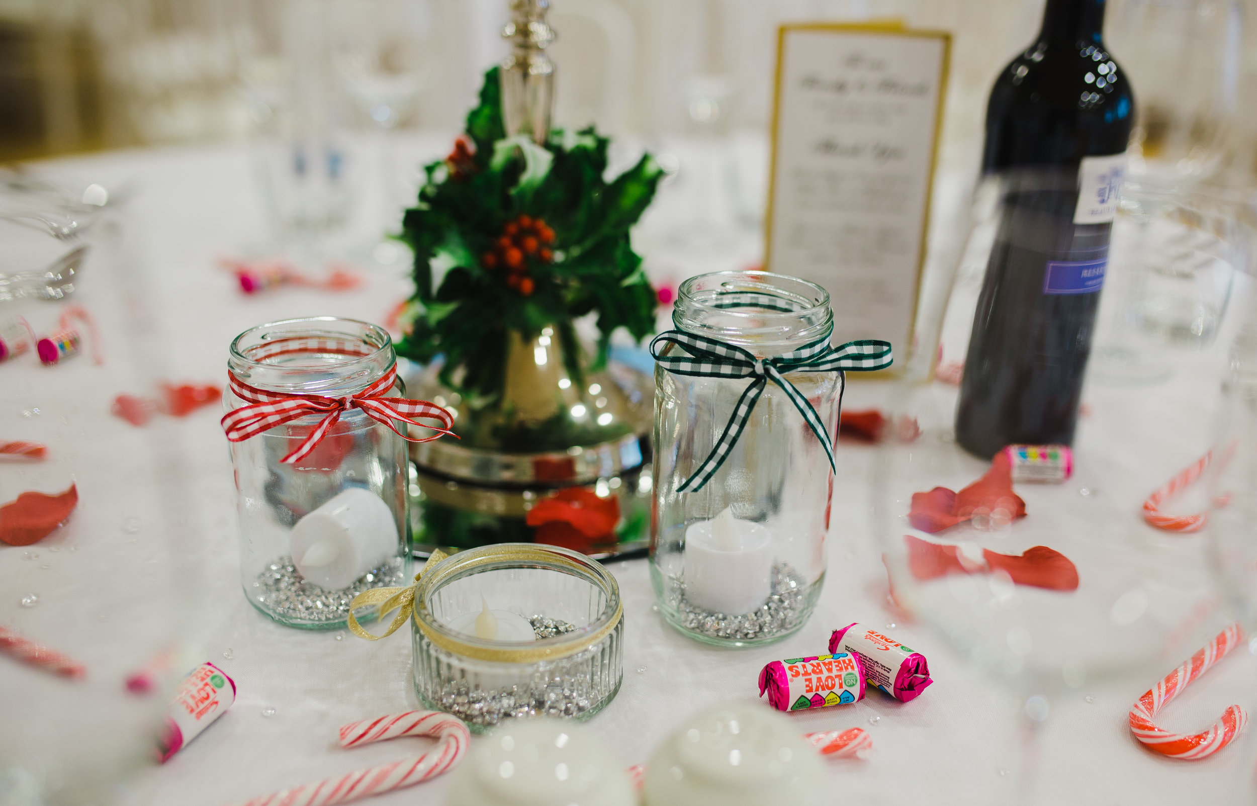 winter wedding themed decor