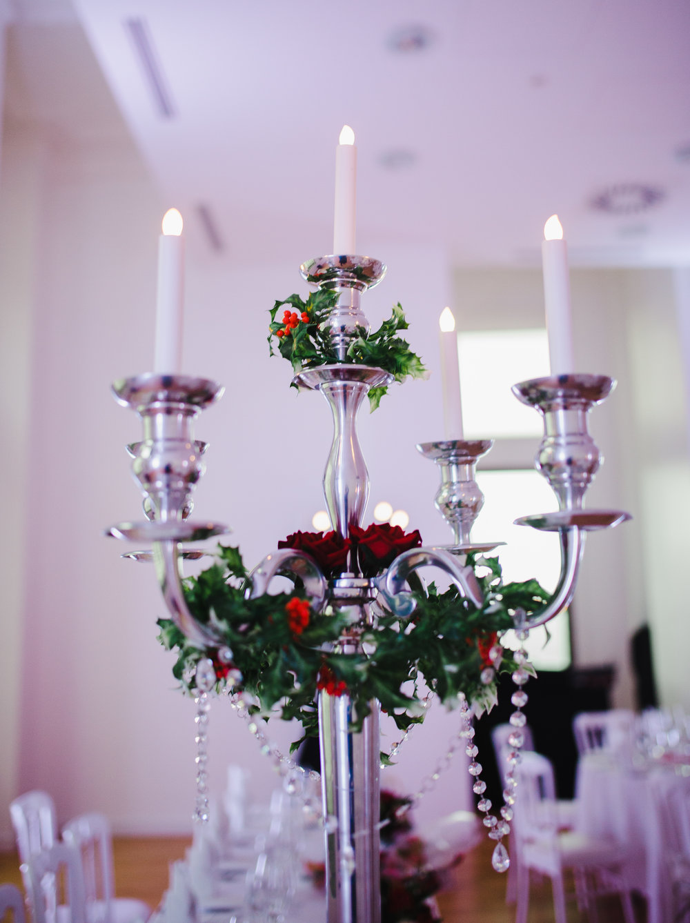 The candle decoration at the liver building- North west relaxed wedding photography