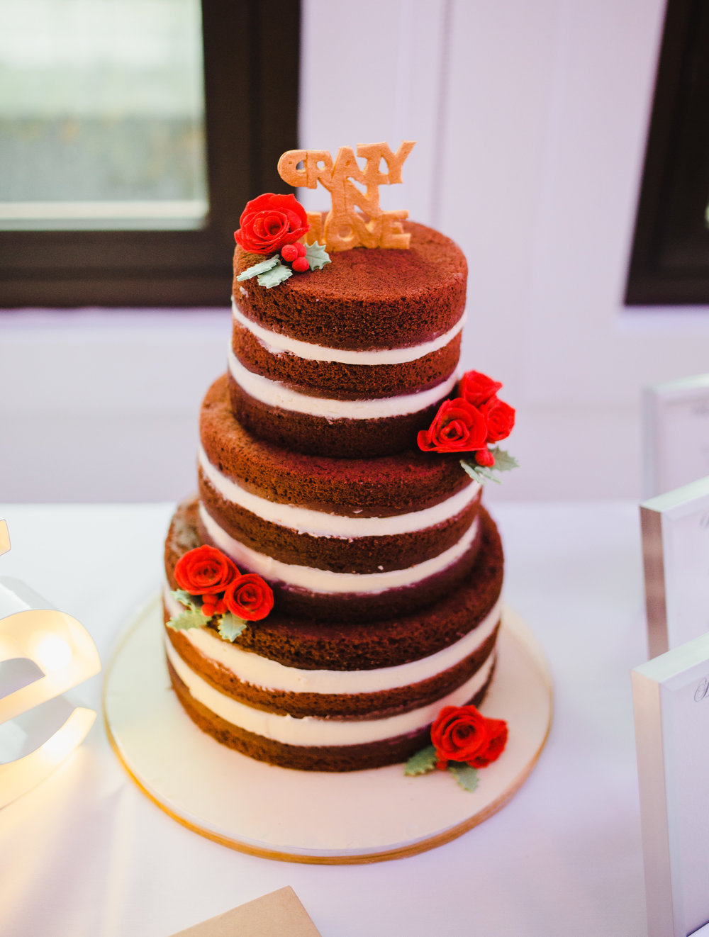 The cake for the winter themed wedding at liverpool- northwest photographer in liverpool