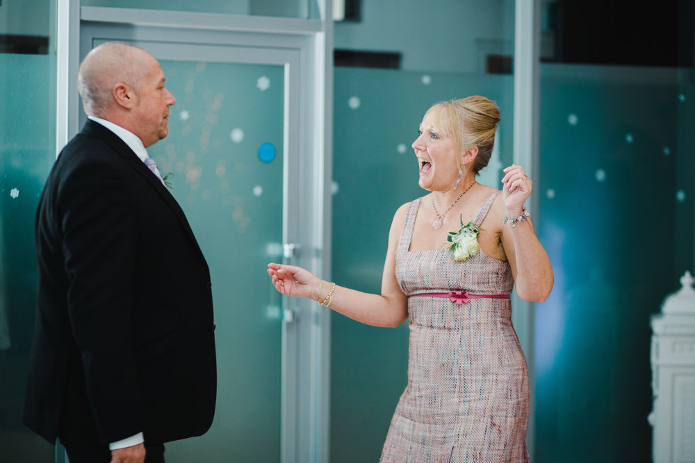 One of the wedding guests dancing- Liverpool photographer
