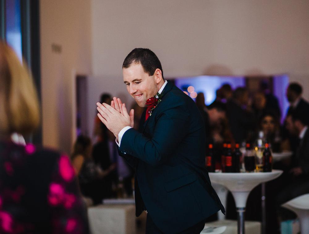 The groom on the dance floor- documentary wedding photography