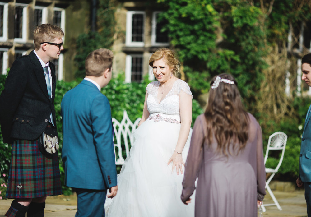 The bride and some of her wedding guests- Documentary wedding photography