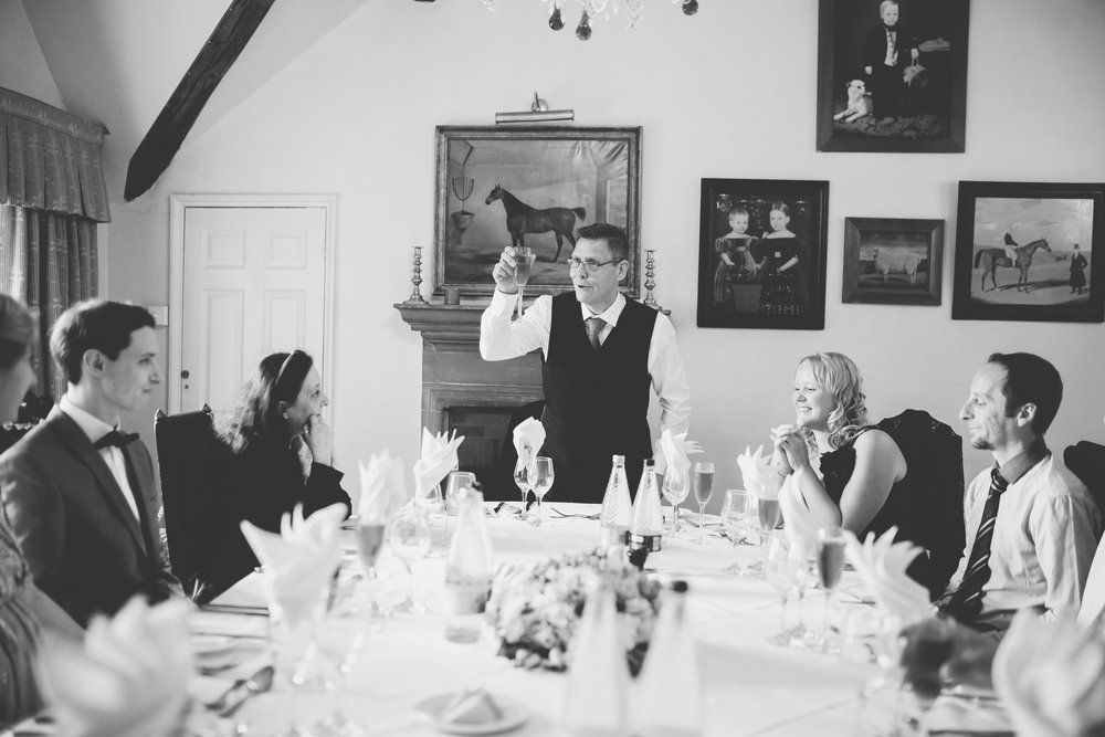 The wedding speeches for the wedding at Houldsworth House- north west wedding