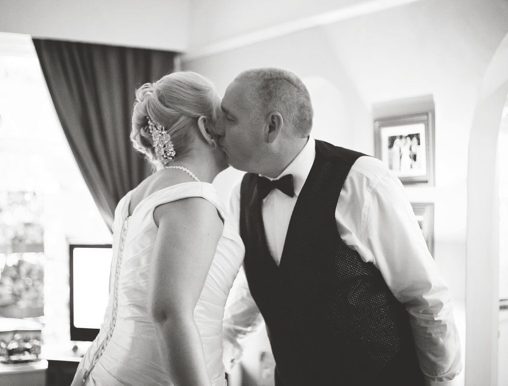 The bride and her father- Cheshire wedding