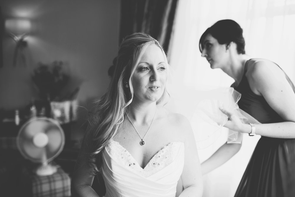 Black and white portrait of the bride- Creative wedding portraits