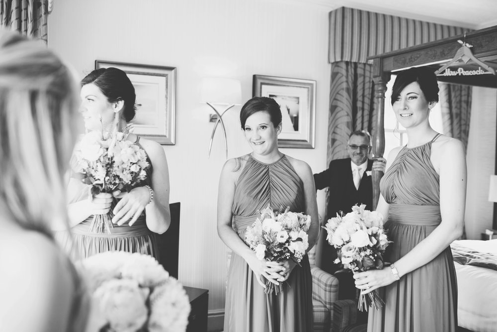 All of the bridesmaids at Inn on the Lake, Lake district- Wedding photographer in the Lake district