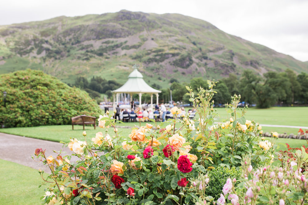 The exterior of the Inn on the Lake at lake district- Documentary wedding photographer