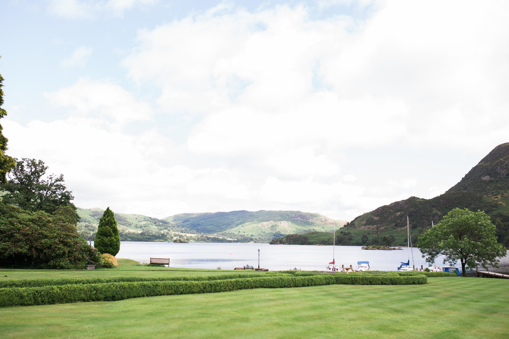 Landscape of the lake district, Inn on the Lake- Creative wedding photography
