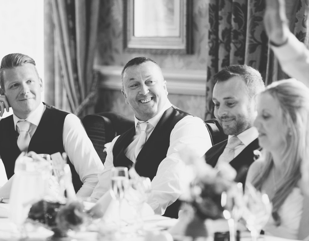 Black and white photography of the wedding tables- Documentary wedding photography
