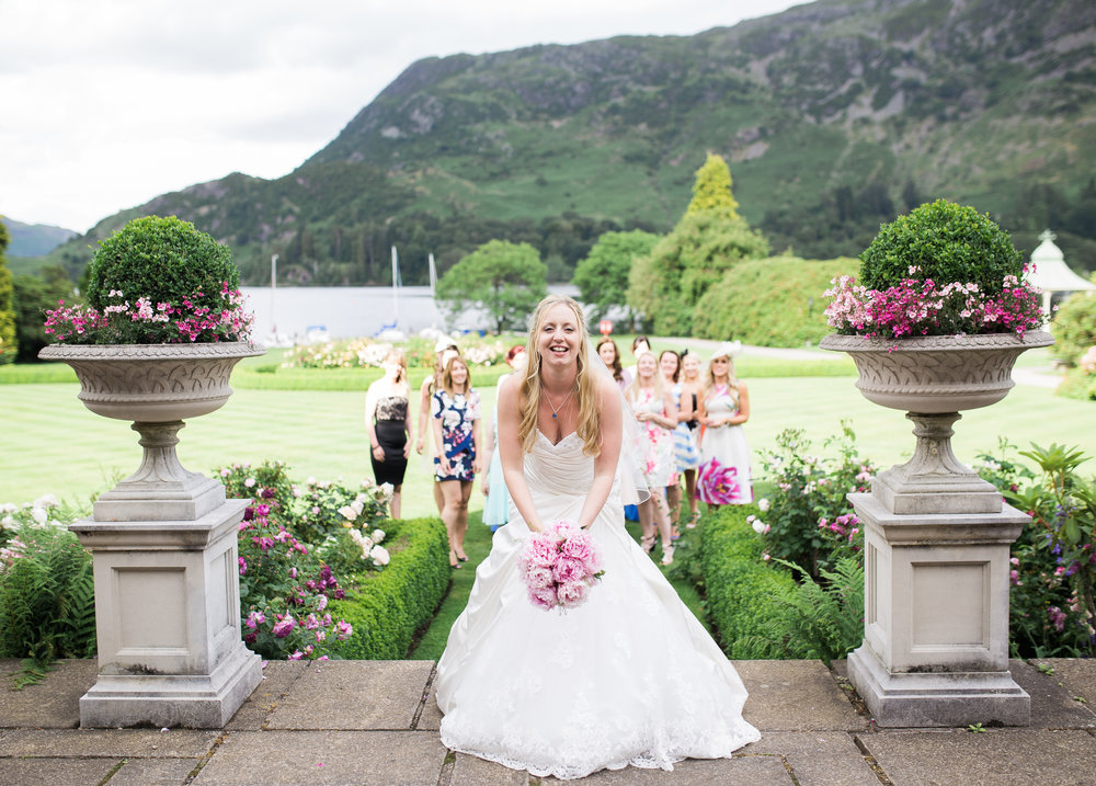 The bride at Inn on the Lake for her wedding- Creative wedding photographer in the lake district