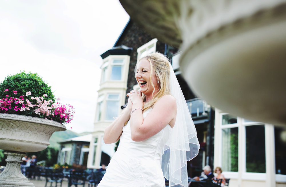 Big smiles from the bride- Inn on the Lake for a wedding venue