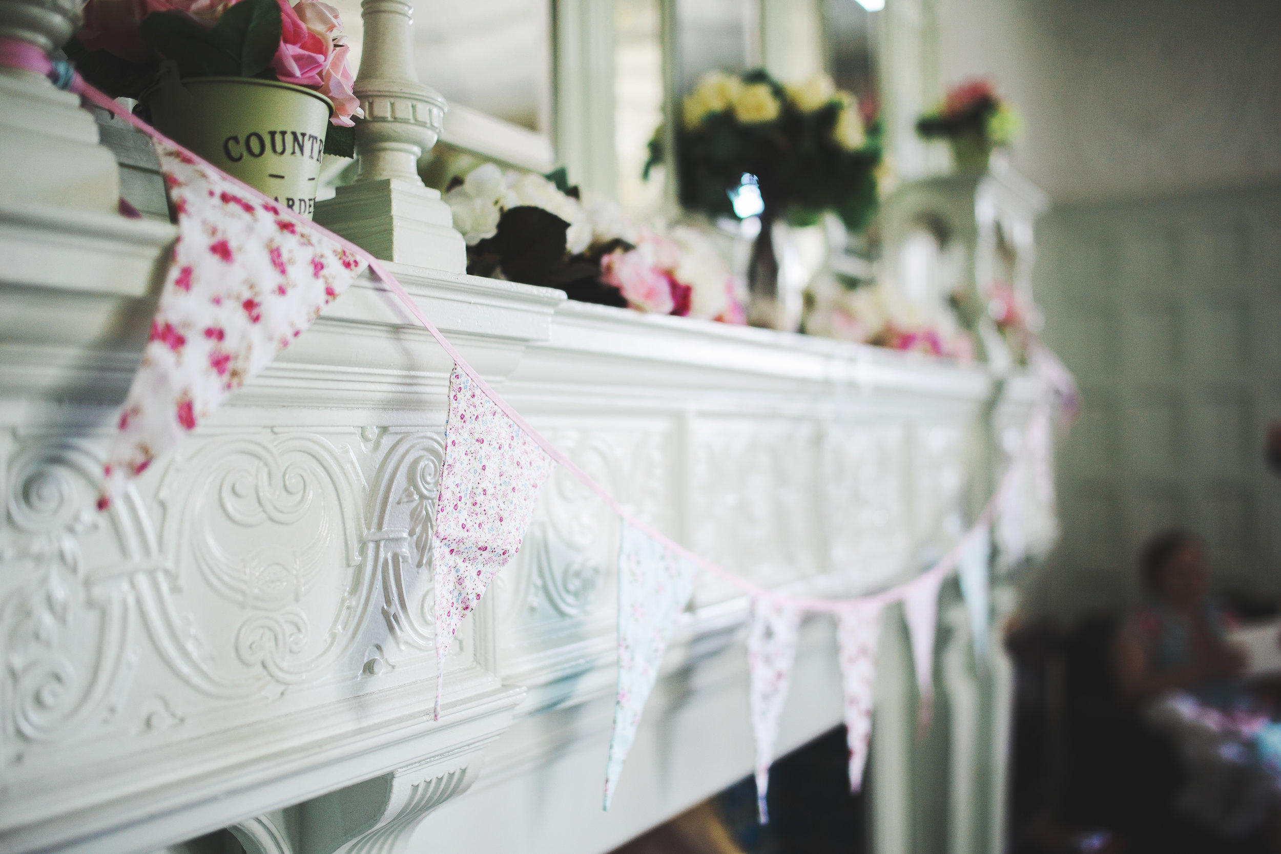 shabby chic wedding decor - lancashire wedding venues