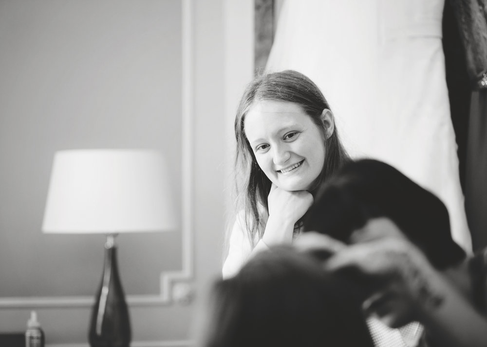 Smiles from one of the wedding guests- Manchester wedding photographer