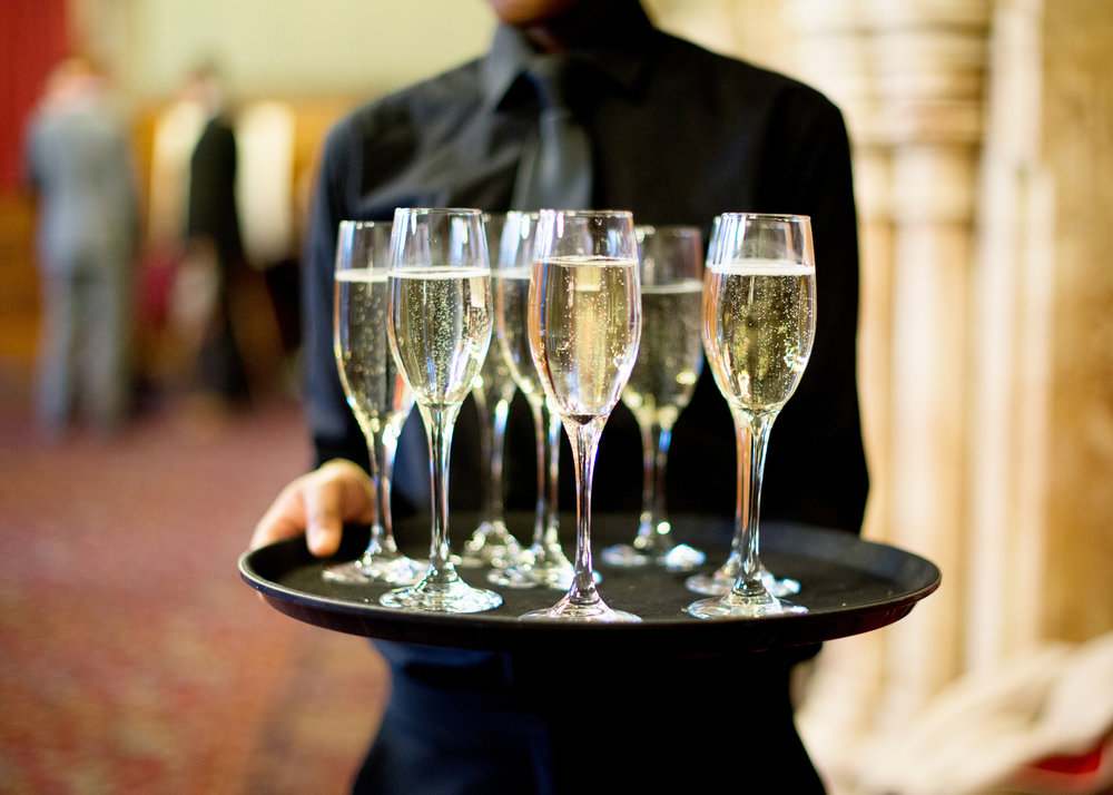 Champagne is needed at a wedding- Manchester Town Hall for a wedding venue