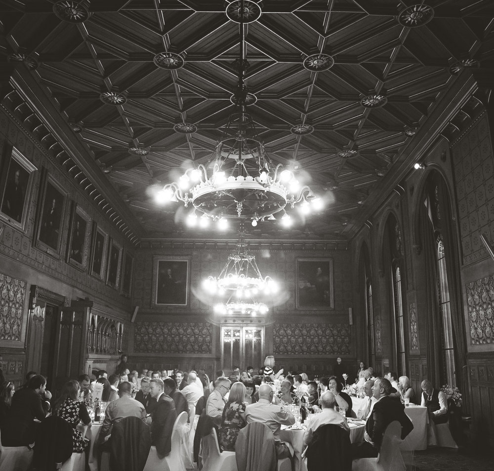 Interior of Manchester Town Hall for a wedding- Vintage themed wedding in manchester