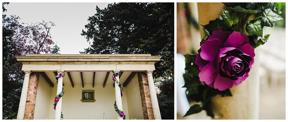 The exterior decoration of the Wedding at Willington Hall Hotel-Creative wedding photographer in cheshire