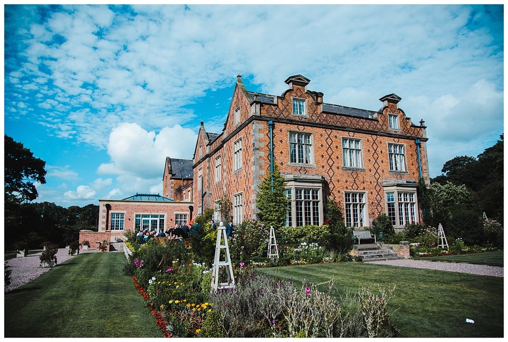 The exterior at Willington Hall Hotel- Wedding photographer in cheshire