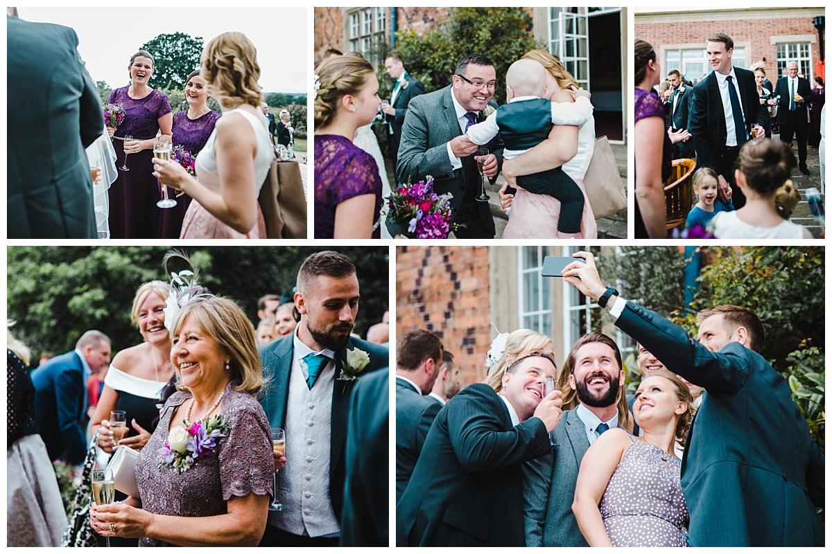 reception at Willington Hall wedding cheshire
