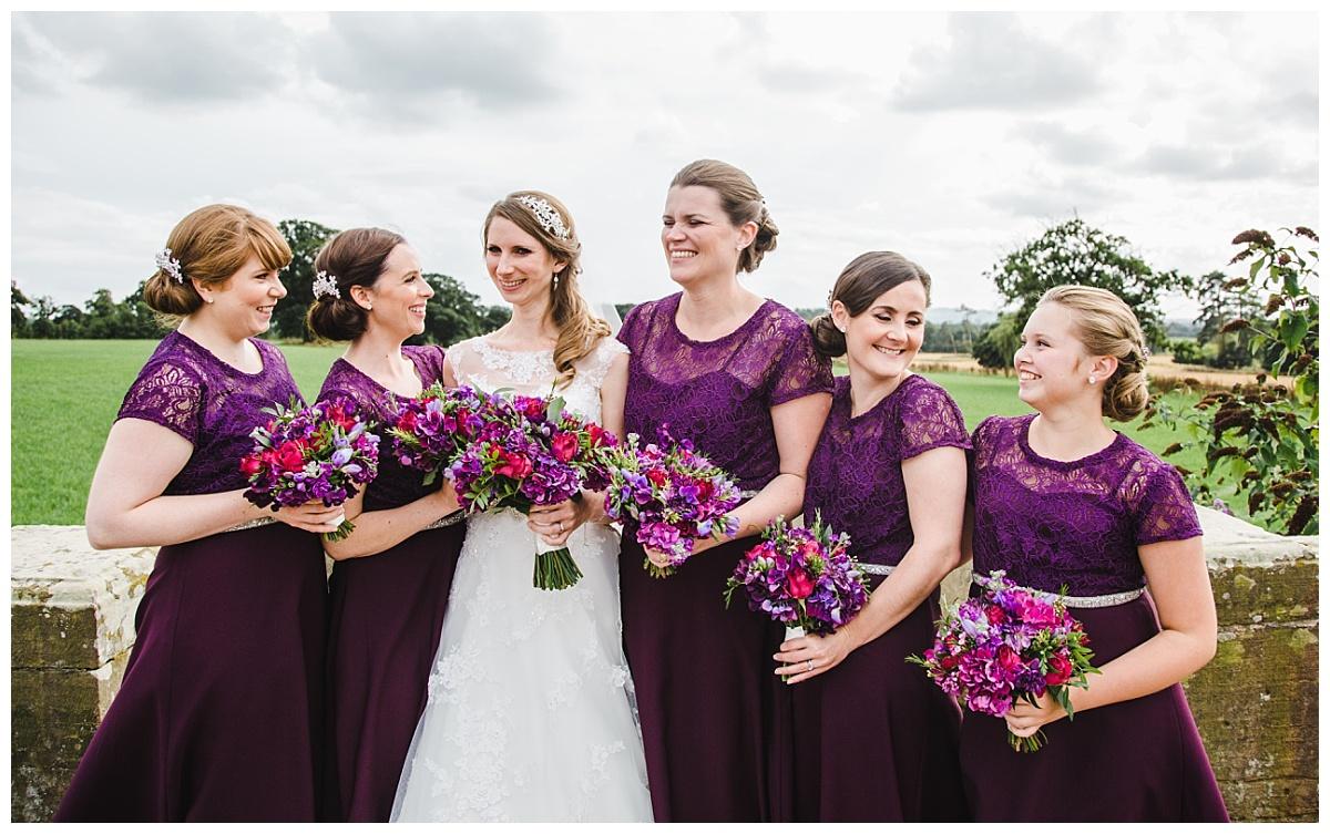 purple wedding dresses - Cheshire wedding photography
