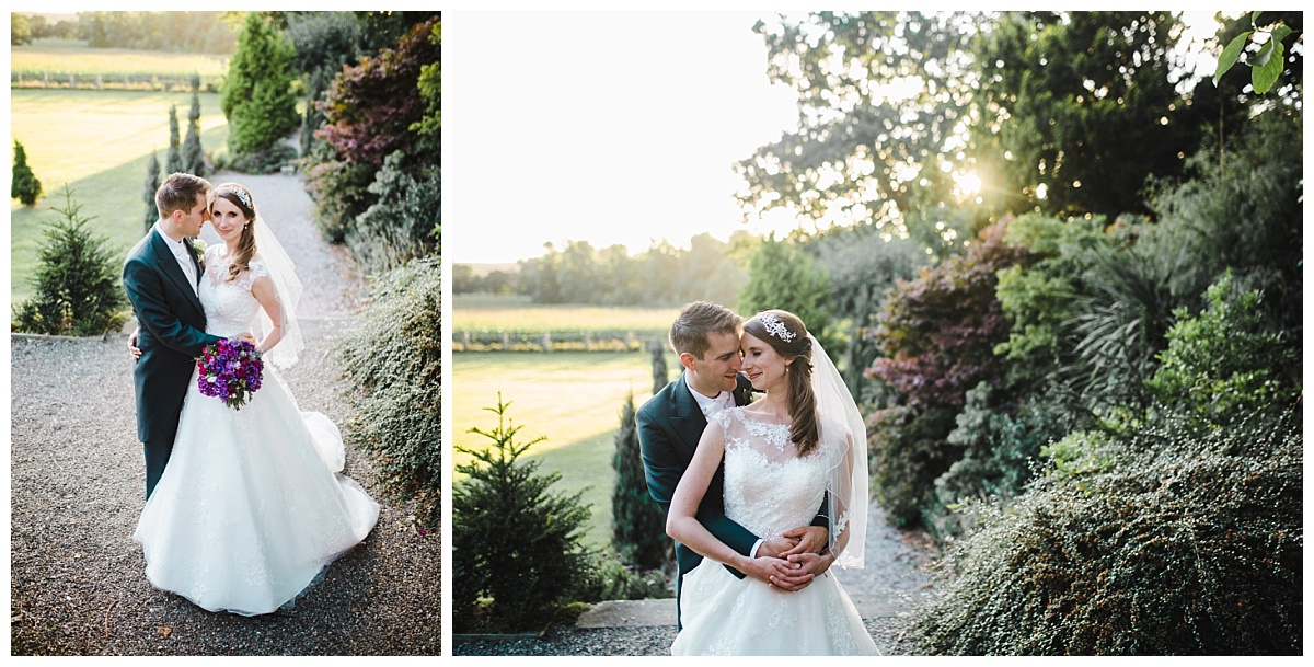 relaxed wedding pictures Cheshire - bride and groom