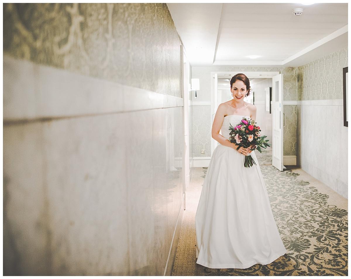 portrait of bride - midland hotel manchester