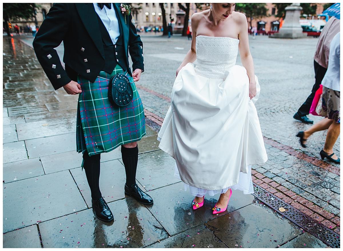 rainy day - manchester wedding