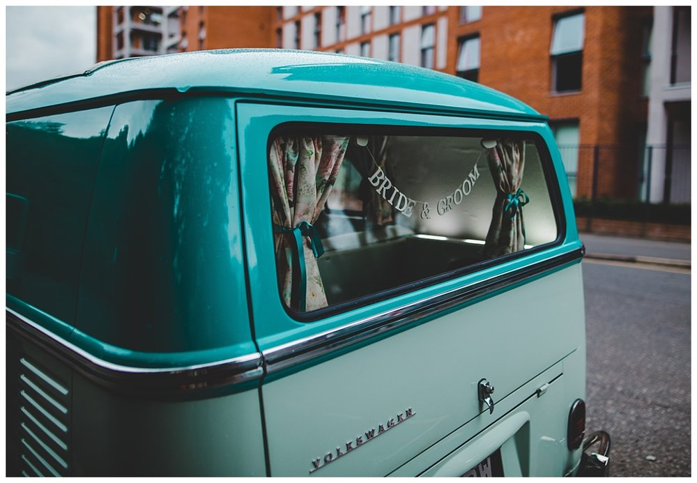 The wedding camper van in manchester- Wedding photographer