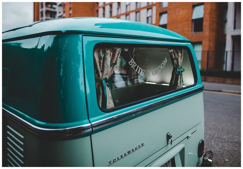 The wedding camper van in manchester- Wedding photographer