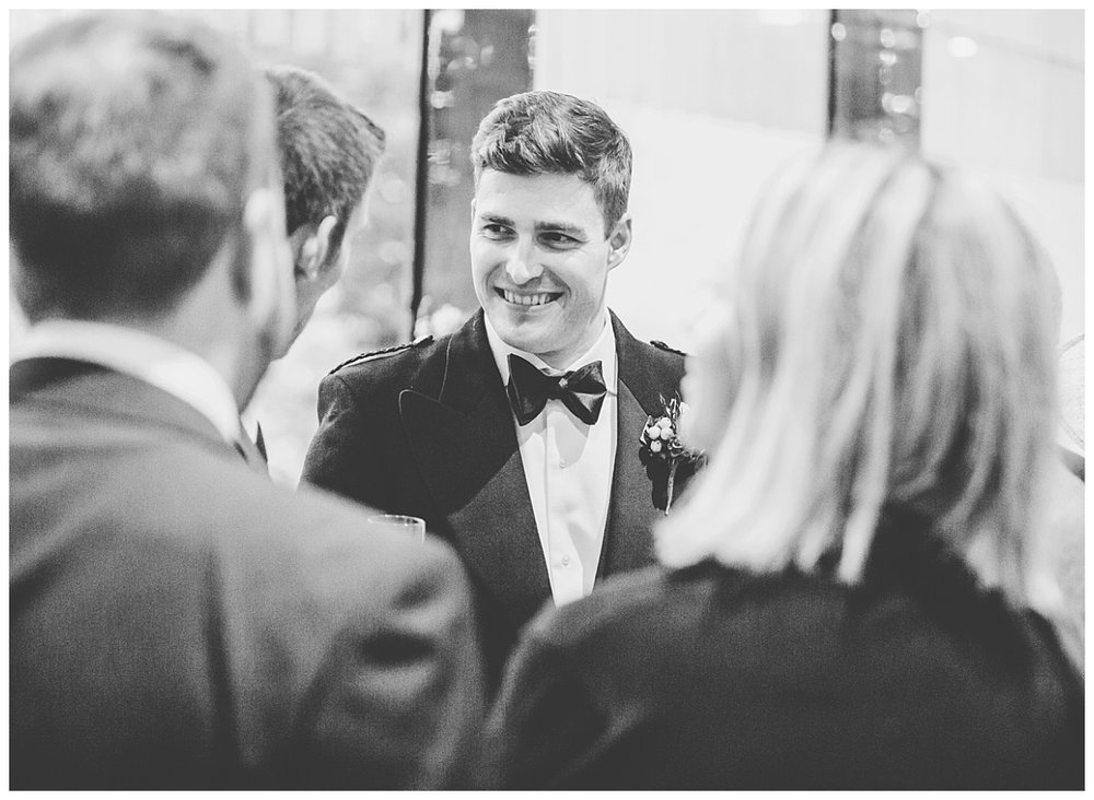 Smiles from the wedding guests at Whitworth Art Gallery