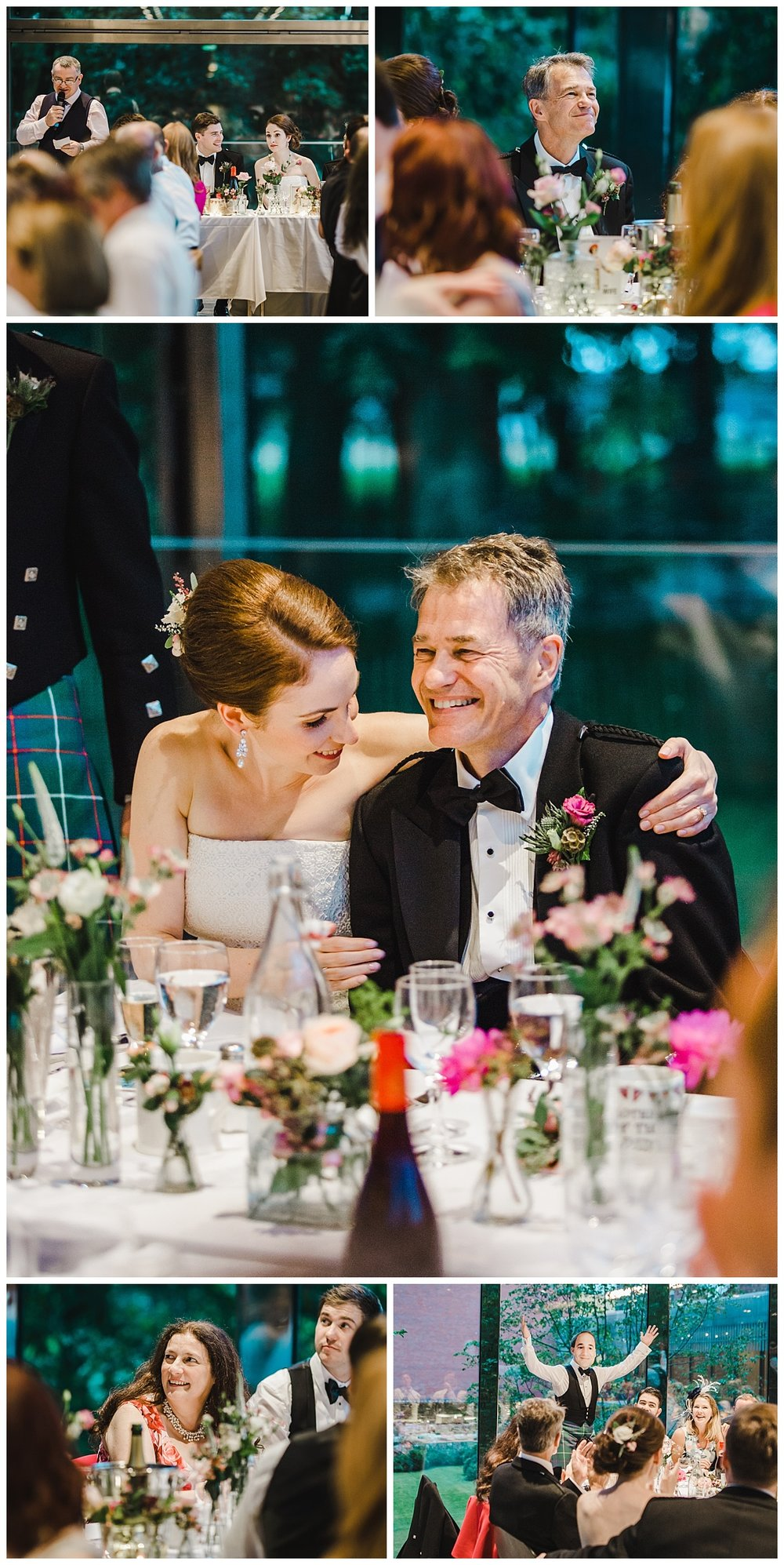 the wedding speeches at the Whitworth Art Gallery wedding venue